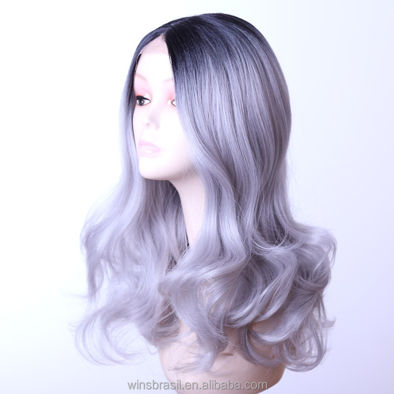 Wholesale chinese wigs human hair full lace wigs synthetic grey hair lace wig