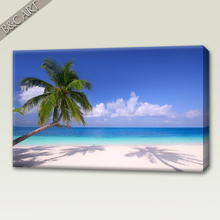 Natural Scenery Wall Picture Seaside Beach Coconut Tree Printed Painting For Decoration Home