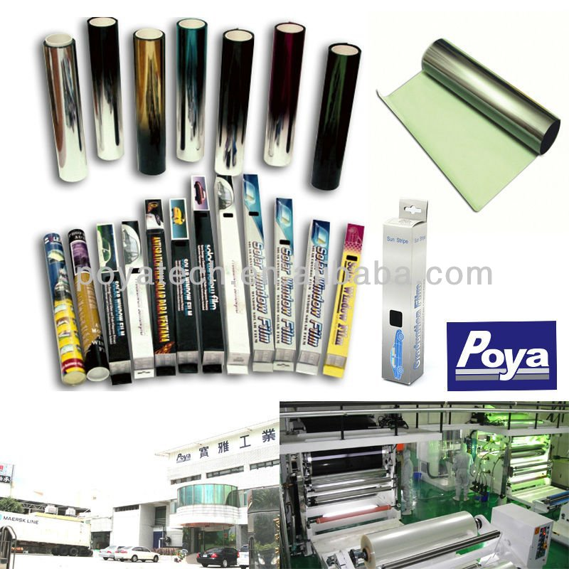 SOLAR CONTROL HEAT REJECTION ANTI-SCRATCH RESISTANT UV BLOCK NANO CERAMIC SPUTTER GLUE COATING DYED WINDOW TINTING FILM