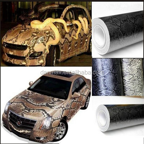 New style durable car body protective air bubbles python snake skin for car