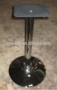 Commercial outdoor metal table base acrylic