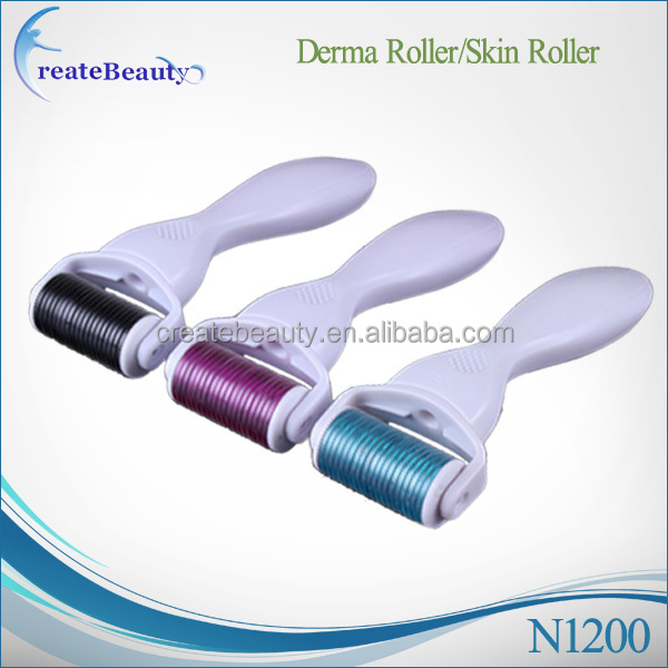 Newest Anti-ageing Anti-wrinkle Microneedle Roller / 1200 Needle Face Derma Roller derma spa facial