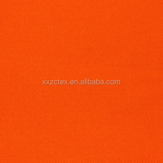Polyester/Cotton twill fluorescent fabric for workwear