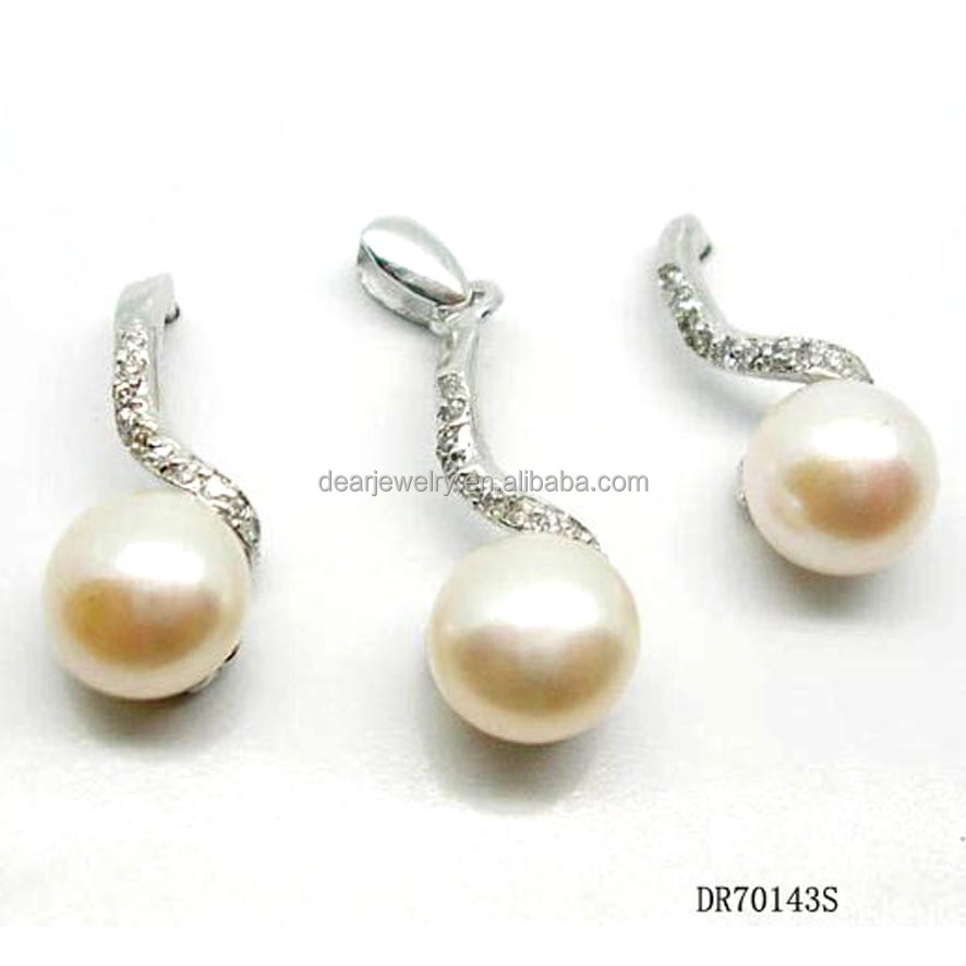 Fashion 925 Silver Pink Pearl Jewelry Making Set For Women Gift
