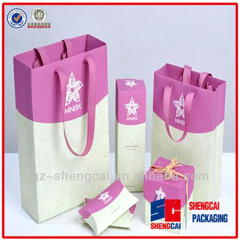 Button Closure Sealing & Handle and Screen Printing Surface Handling custom paper bag