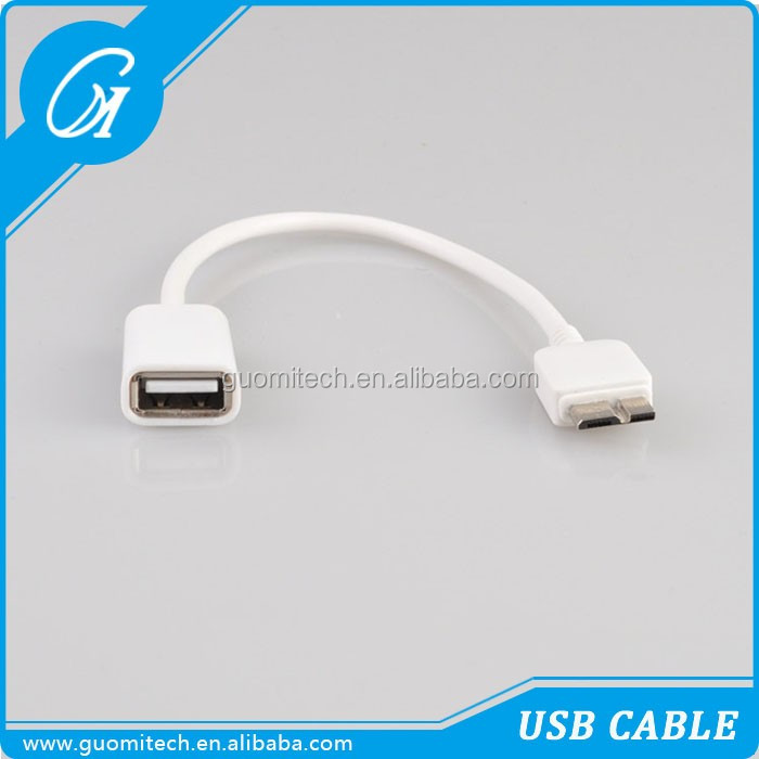Hot selling products for samsung note3 cable usb 3.0 to otg cable