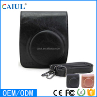 CAIUL Instant Camera Women Handbag Mini90 Black Color Leather Bag Made in China