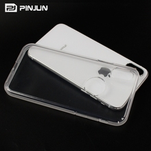 Cheap 2mm prism transparent tpu sublimation blank for iphone x case clear soft tpu