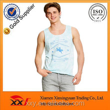 Fashional clothing 95% cotton 5% spandex men's screen printing bodybuilding tank top