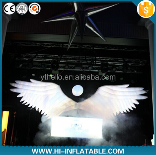 Creative design inflatable angel wing for stage decoration, party decoration