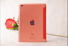 New arrival PC matte base PU leather cover case for ipad air 2 Orange custom