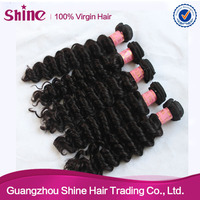 2015 hot sale long lasting time nice texture lady personal hair extension indian deep wave hair