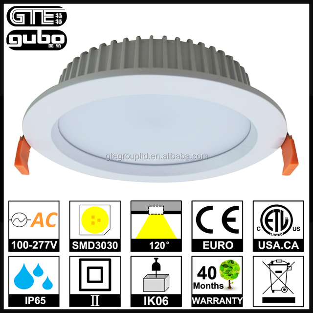 IP65 Waterproof LED Downlight 40W 8inches