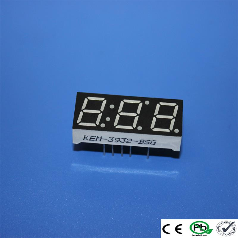 super red seven segment led 0.39 inch 3 digit led numeric display