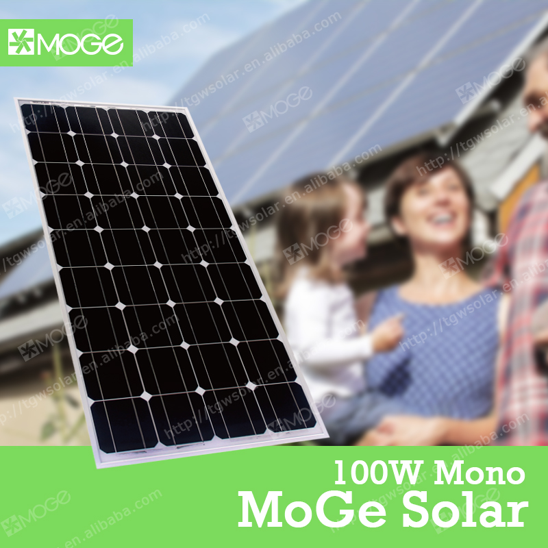 Moge monocrystal 100w solar panel for house