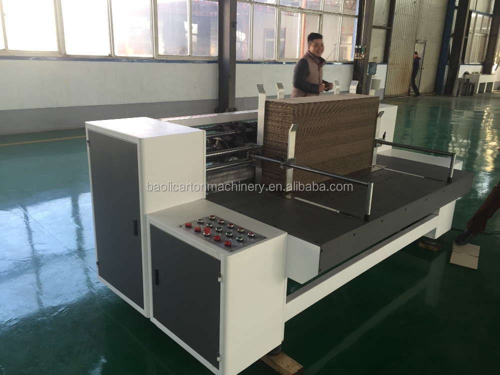 baoli patent product:delivery box making machine/corrugated box making machine/small size corrugated box making machine