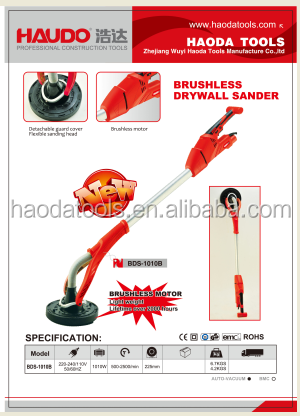 Brushless motor drywall sander