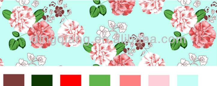 china flower design taffeta fabric from changxing textile/jacquard fabric