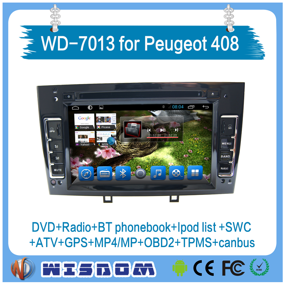 2016 new model peugeot 308 car dvd gps 408/308SW with car multimedia system car stereo support back up camera wifi