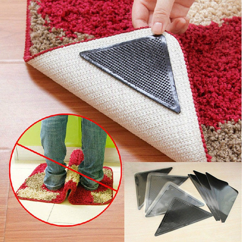 Fixate gel pad stick it to the bottom of the carpet to prevent from slipping