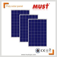 MUST Poly PV panel/250W poly solar panel with TUV certificate for on and off grid system