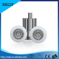 Solid metal + zinc alloy long lasting sliding shower door wheel