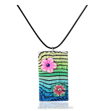 Amazon Fashion Bohemian flower polymer clay necklace elegant jewelry for women 2018