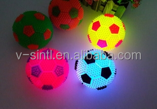 Wholesale toy balls flash football PU light up mini footbal/with sound and light balls