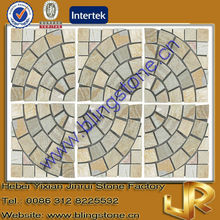 Natural Slate Paving Stone CIrcle for Walkway and Floors