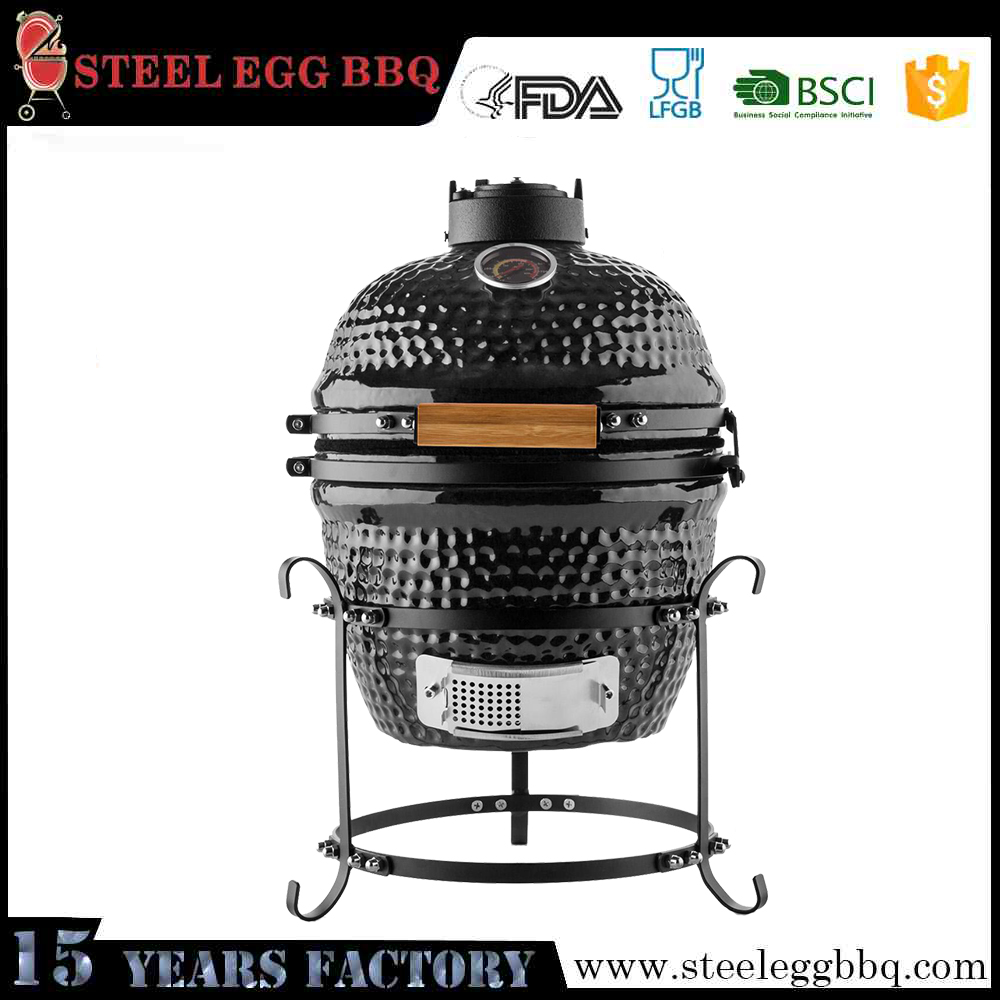 Auplex Manufacture Outdoor Egg-shaped Mini Barbecue Ceramic Grill