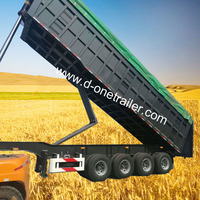 TOP China Trailer Manufacture High quality tractor tipper trailer made in China van trailer for sale