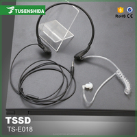 Hands Free Noise cancelling Throat Vibration Mic earphone for mobile phone