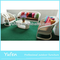 poly rattan outdoor furniture wicker sofa for garden