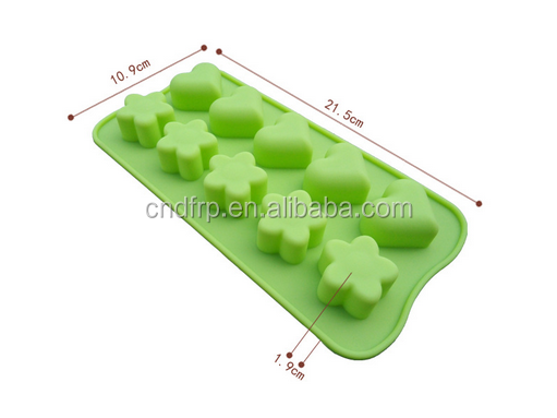 hot selling food grade star shape heart shape silicone cake mold