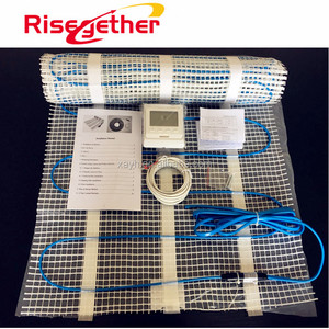 Manufacturer 150W/M2 Underfloor Heat Mats Electric Radiant Floor Heating Cable Mat Kits