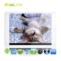 IPS Screen- tablet personal computers cheap quad core mini pad hd 1280*800 android 4.1 tablet 7.85inch