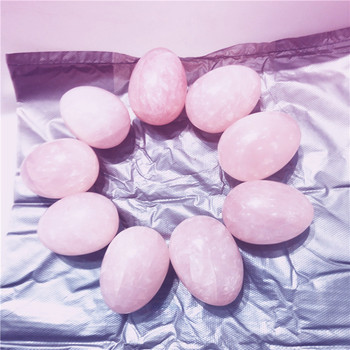 50mm natural rose quartz stone crystal yoni eggs
