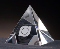 Blank pyramid shape crystal paperweight gift MH-JT0021