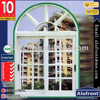 op quality Alufront 5 stars energy rating aluminium arch window