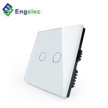 Engelec Wholesale popular smart home WiFi power UK touch <strong>switch</strong> Null line & live line 2 gang 1way glass panel wifi wall <strong>switch</strong>