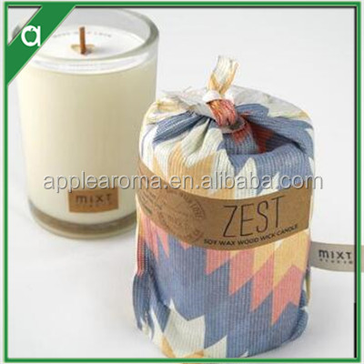 custom scented candles private label in decorative tins with sack for candles decoration wholesale