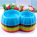 Wholesale Cheap Double Plactic Fancy Dog Bowl