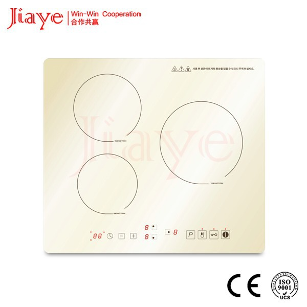 New coming induction cooker! White glass induction hob 3 burners/CE, ROHS kitchen cooktops JY-ID3003