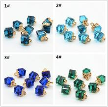 HYD Kinds of crystal drill shirt buttons wholesale monopoly decorative red blue green colorful small button