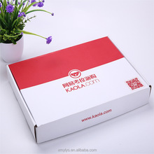 Good quality cardboard packaging box/corrugated paper t-shirt packaging mail boxes for wholesale