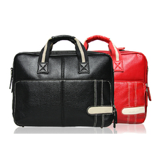Mens briefcase leather customized laptop bag