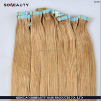 Tape In Human Hair Extensions 40pcs Natural Black Remy Brazilian Straight Skin Weft Hair 8-30 Inch Tape Hair