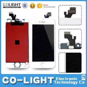 Original cheap for apple for iphone 5 a1429 lcd display touch screen digitizer with high quality
