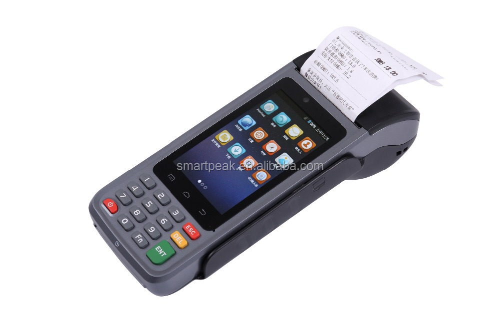 mobile computer/rugged/integrated/Handheld POS/PDA bulit in thermal printer EMV certificated/CE/ROSH/MRS card/IC P8000 2016 NEW