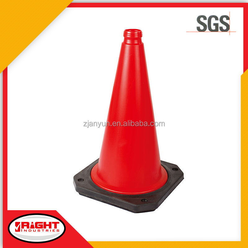7084 European Model Traffic Cone/Safety Cone w Rubber Base